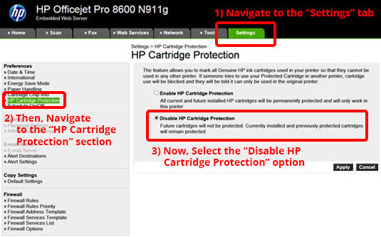 HP Protected Cartridge Error Message | Remove HP Printer